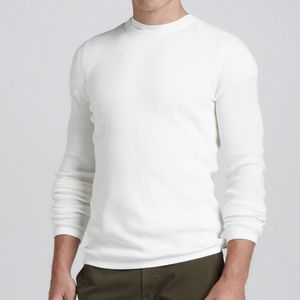 Vince White Waffle Knit Long Sleeve Thermal XXL